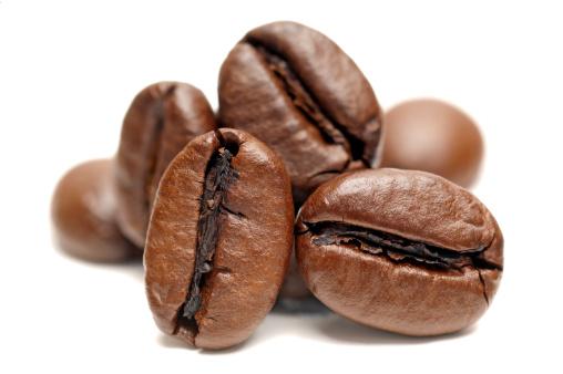 Seed「Macro of Coffee Beans on white background」:スマホ壁紙(14)