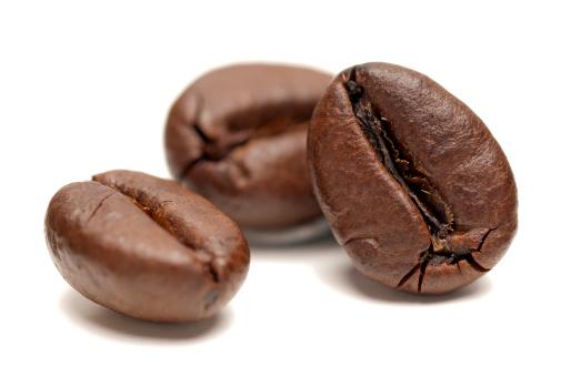 Coffee - Drink「Macro of Coffee Beans on white background」:スマホ壁紙(9)