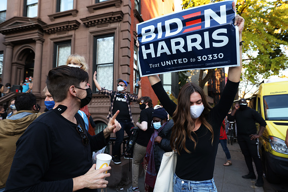 Winning「Supporters Of Joe Biden Celebrate Across The Country, After Major Networks Project Him Winning The Presidency」:写真・画像(7)[壁紙.com]