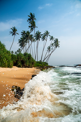 Sri Lanka「Waves crashing on Koggala beach, Galle, Sri Lanka」:スマホ壁紙(12)
