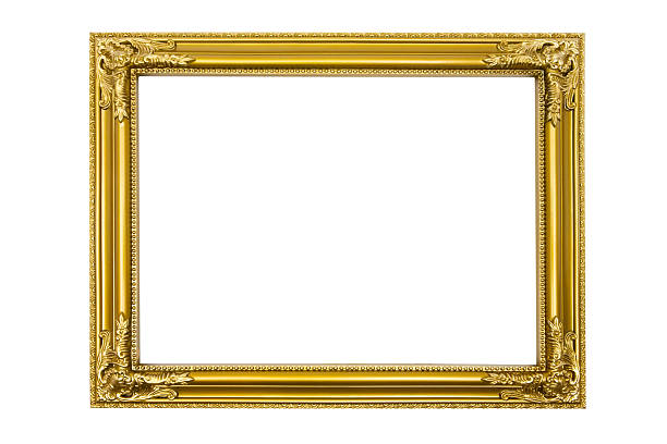 Golden Picture Frame (Clipping Path Included):スマホ壁紙(壁紙.com)