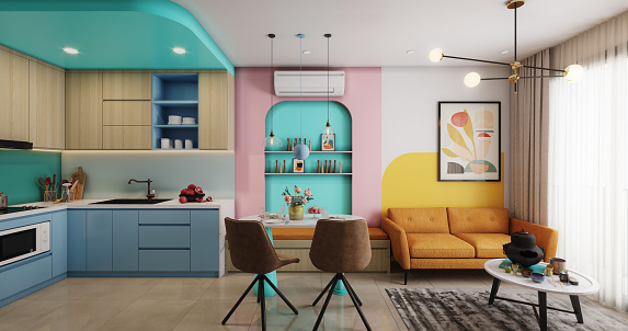 Toned Image「Cozy and Modern Small Apartment」:スマホ壁紙(3)