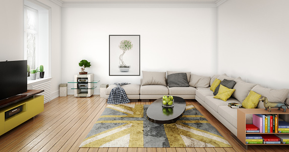High Definition Television - Television Set「Cozy and Modern Living Room」:スマホ壁紙(11)