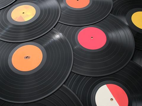 Rock Music「Vinyls background」:スマホ壁紙(7)