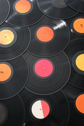 Rock Music「Vinyls background」:スマホ壁紙(12)