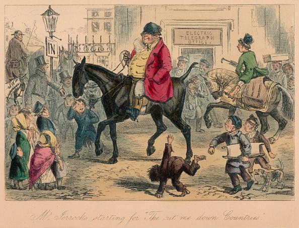 Etching「'Mr. Jorrocks Starting For The Cut Me Down Countries', 1854」:写真・画像(5)[壁紙.com]