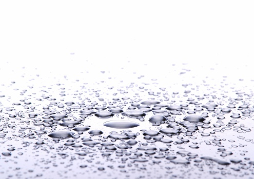 Water Surface「Drops on metal.」:スマホ壁紙(6)