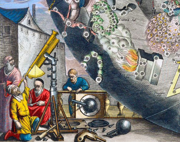 17th Century「Astonomers Looking Through A Telescope 1660-1661」:写真・画像(7)[壁紙.com]