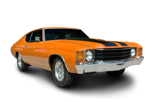 Hot Rod Car「Orange 1971 Chevelle」:スマホ壁紙(16)