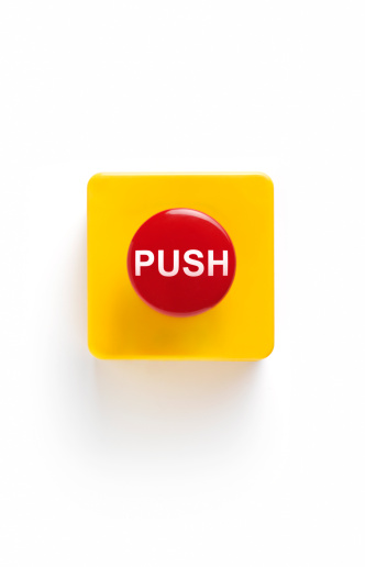 Pushing「Push button on white background」:スマホ壁紙(13)