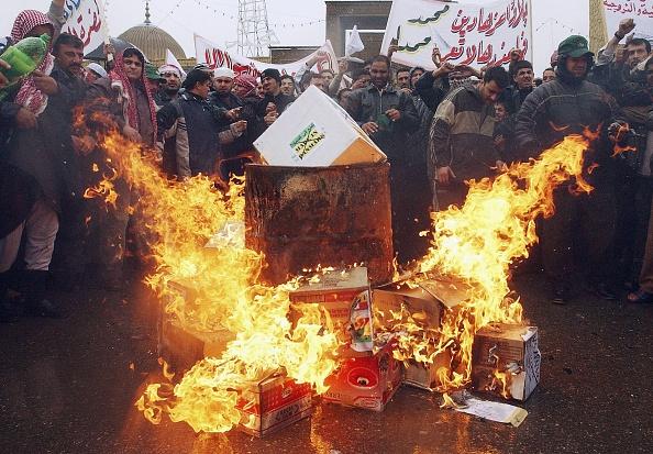 Baghdad「Iraqis Protest Against Danish Cartoons in Baghdad」:写真・画像(15)[壁紙.com]