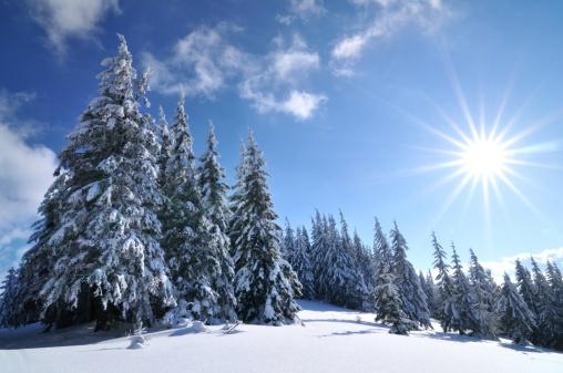 雪「北極光」:スマホ壁紙(17)