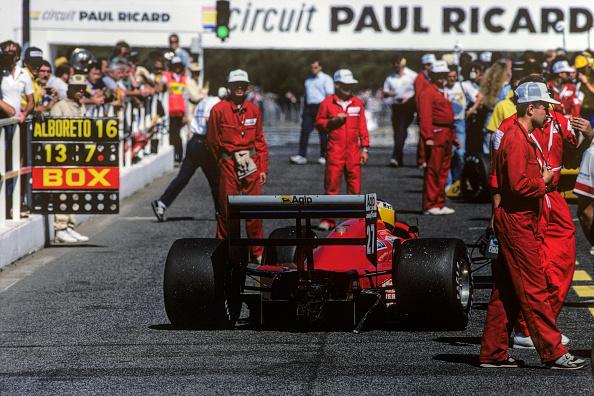 ピットストップ「Michele Alboreto, Grand Prix Of France」:写真・画像(3)[壁紙.com]
