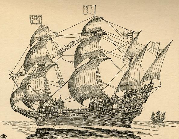 Elizabethan Style「An Elizabethan Galleon」:写真・画像(3)[壁紙.com]