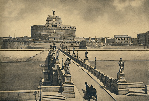 Mausoleum「Roma - Bridge And Castle Of St Angelo 1910」:写真・画像(7)[壁紙.com]