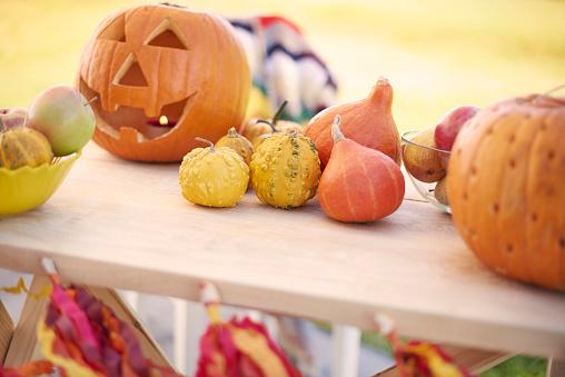 ハロウィン「Decoration for Halloween party outdoors. Debica, Poland 」:スマホ壁紙(14)