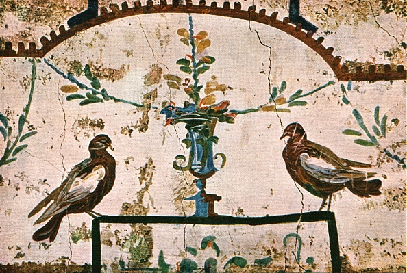 Vase「Decoration In The Catacombs Of Praetextatus On The Via Appia」:写真・画像(0)[壁紙.com]