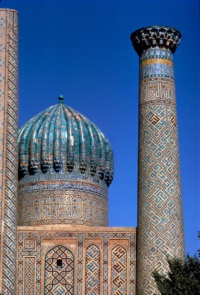 Samarkand「Decoration On Tower And Dome Of Shir-Dar Madrasa」:写真・画像(18)[壁紙.com]