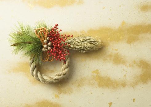 お正月「Decoration of straw rope」:スマホ壁紙(13)