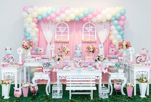 Dessert Topping「Decoration table for children's birthday」:スマホ壁紙(3)