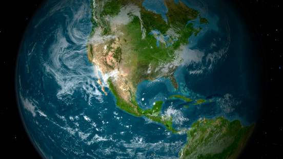 Planet Earth「View of Central and North America.」:スマホ壁紙(13)