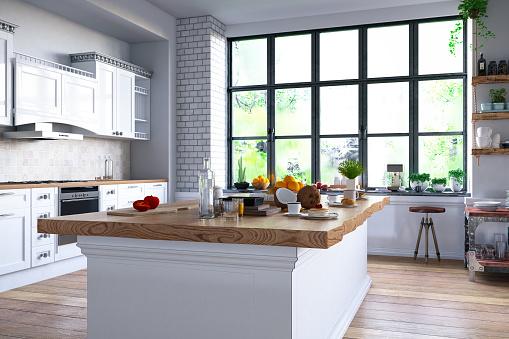 Home Showcase Interior「Loft Kitchen」:スマホ壁紙(2)
