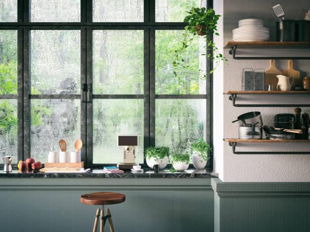 ロフトのキッチン:スマホ壁紙(壁紙.com)