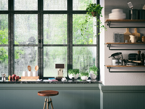 Home Interior「Loft Kitchen」:スマホ壁紙(1)