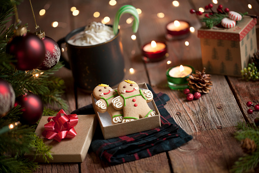 Candy Cane「Christmas gingerbread man cookies and hot chocolate」:スマホ壁紙(16)