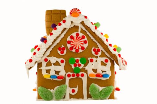 Gummi candy「Christmas Gingerbread House - Isolated」:スマホ壁紙(19)