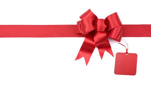 プレゼント「クリスマスギフトレッドのリボン白で分離、クリッピングパス」:スマホ壁紙(5)