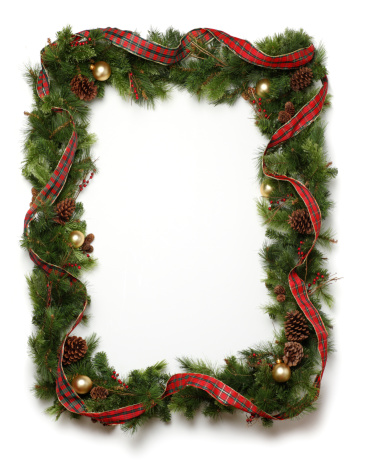 Frame - Border「Christmas Garland Frame」:スマホ壁紙(9)