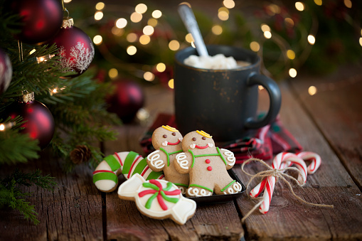 Gingerbread Cookie「Christmas gingerbread cookies and hot chocolate」:スマホ壁紙(14)