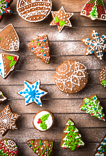 Cookie「Christmas gingerbread cookies」:スマホ壁紙(0)