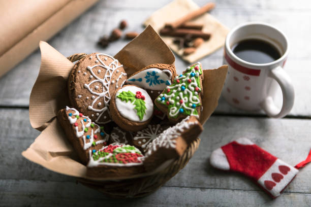 Christmas gingerbread and coffee:スマホ壁紙(壁紙.com)