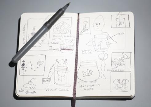 Pen「Sketches in open notebook」:スマホ壁紙(9)
