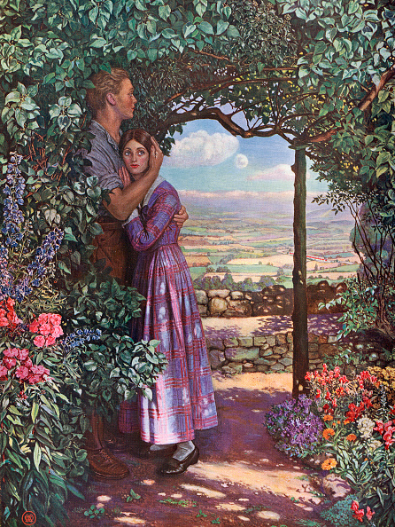 Cultivated Land「Couple Embracing In Garden」:写真・画像(7)[壁紙.com]