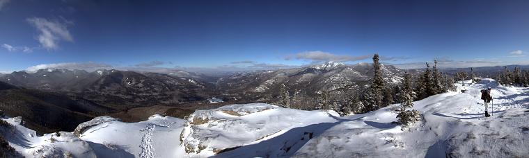 アディロンダック森林保護区「パノラマに広がる山の山頂、Adirondacks Noonmark」:スマホ壁紙(16)