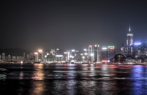 Water Surface「panoramic of Hong Kong at night」:スマホ壁紙(13)