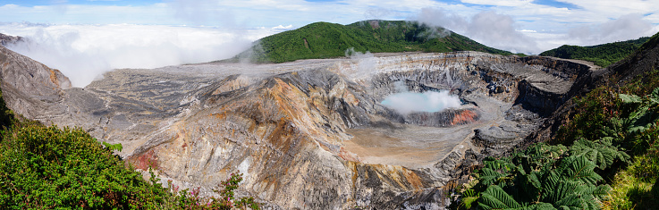 Eco Tourism「Panoramic of the Poas Volcano crater」:スマホ壁紙(15)