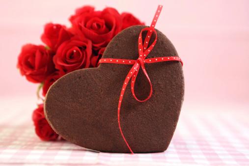 Valentine's Day「ヴァレンティーヌハートクッキー」:スマホ壁紙(13)