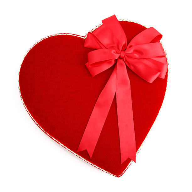 Valentine Heart Shaped Candy Box with Red Bow:スマホ壁紙(壁紙.com)