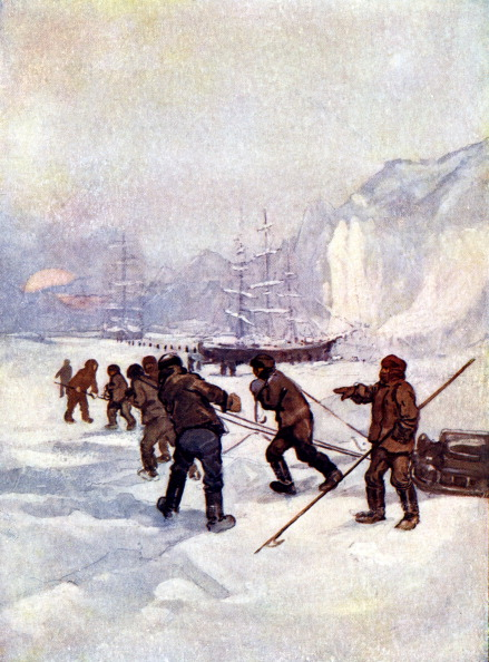Ship「'The ships were called the Terror and the Erebus', 1847, (1905).Artist: A S Forrest」:写真・画像(15)[壁紙.com]