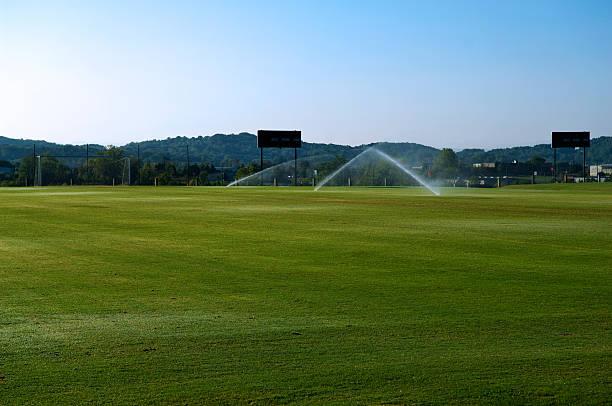 Soccer Field with Soccer Goal at Park:スマホ壁紙(壁紙.com)