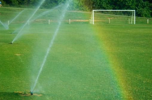 虹「サッカーサッカーフィールド、目標に公園」:スマホ壁紙(13)