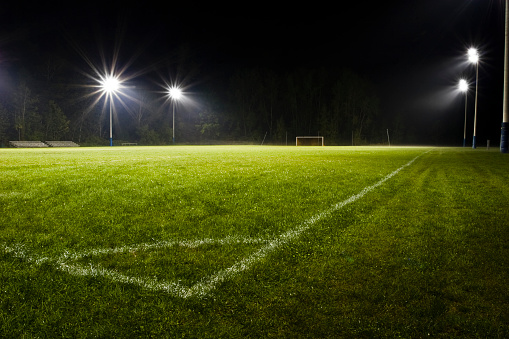 Soccer - Sport「Soccer Field at Night」:スマホ壁紙(4)