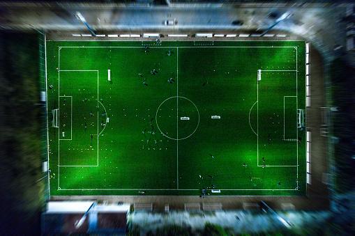 Sports Training「Soccer field at night - aerial view」:スマホ壁紙(13)