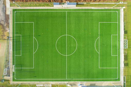 Emerald Green「Soccer field - aerial view」:スマホ壁紙(19)
