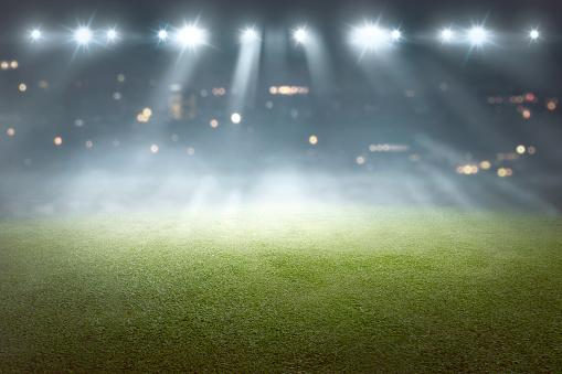Match - Sport「Soccer field with blur spotlight」:スマホ壁紙(1)