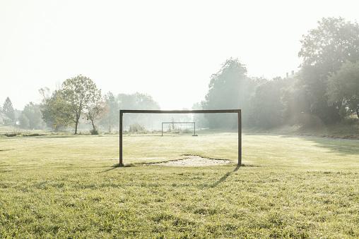 Agricultural Field「soccer field in dawn」:スマホ壁紙(8)